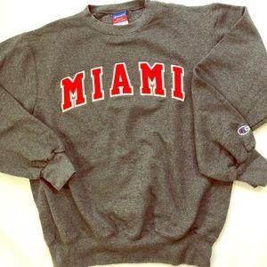 "Champion ""MIAMI"" Crewneck University Sweatshirt S"
